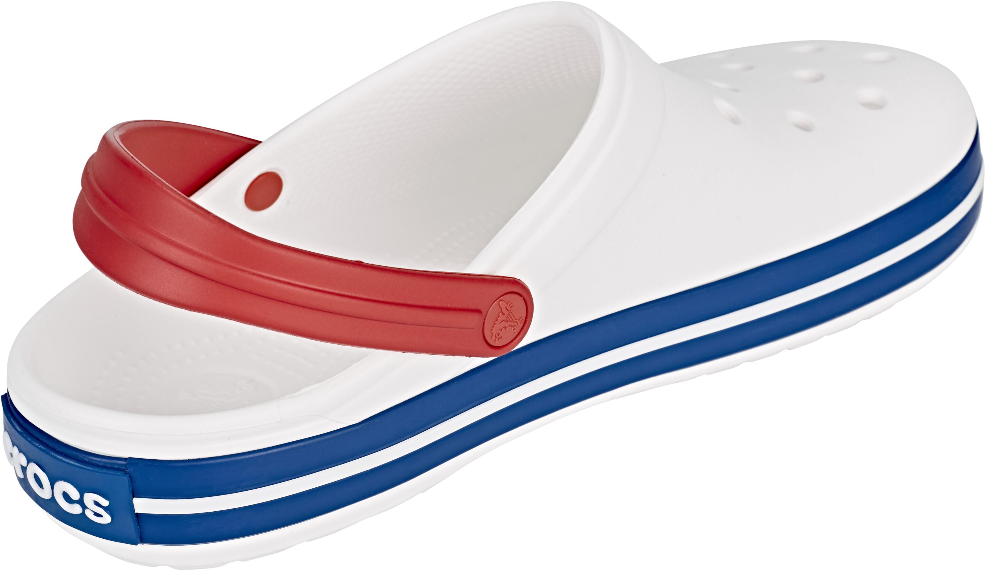 Crocs Crocband Clogs Unisex White Blue Jean  0c5e76df52a